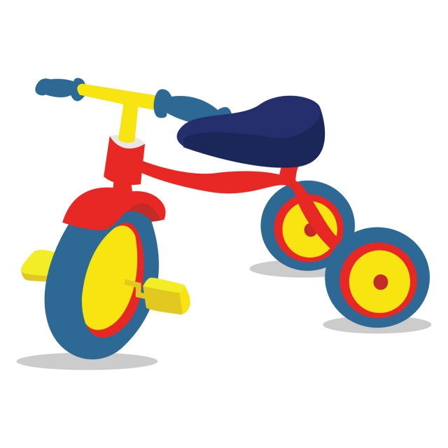Tricycle Vector Png - Tricycle Illustration Vector On White Background, Tricycle ...