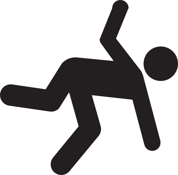 Free Png Person Falling - Tripping Down Clipart