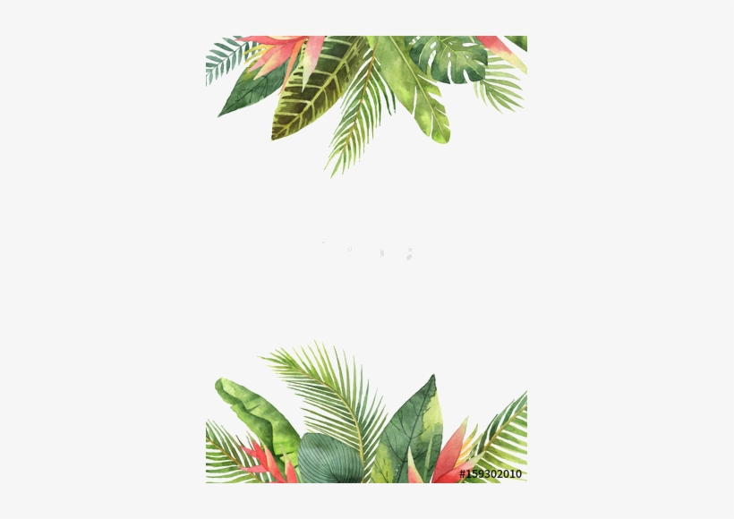 Tropical Background Png - Tropical Leaves Background Watercolor - Free Transparent PNG ...