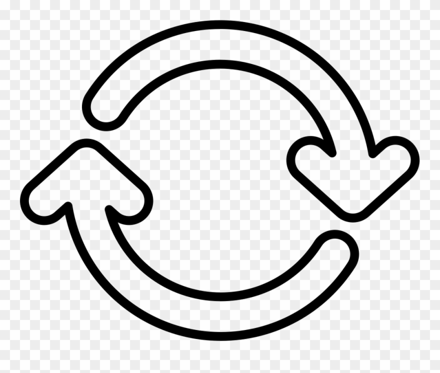 White Circle Arrow Png - Two Circular Arrows Circle Rotating To Right Comments - White ...