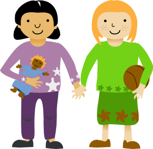 Two Girls On A Boy Png - Two Little Girls Clip Art at PNGio - vector clip art online ...