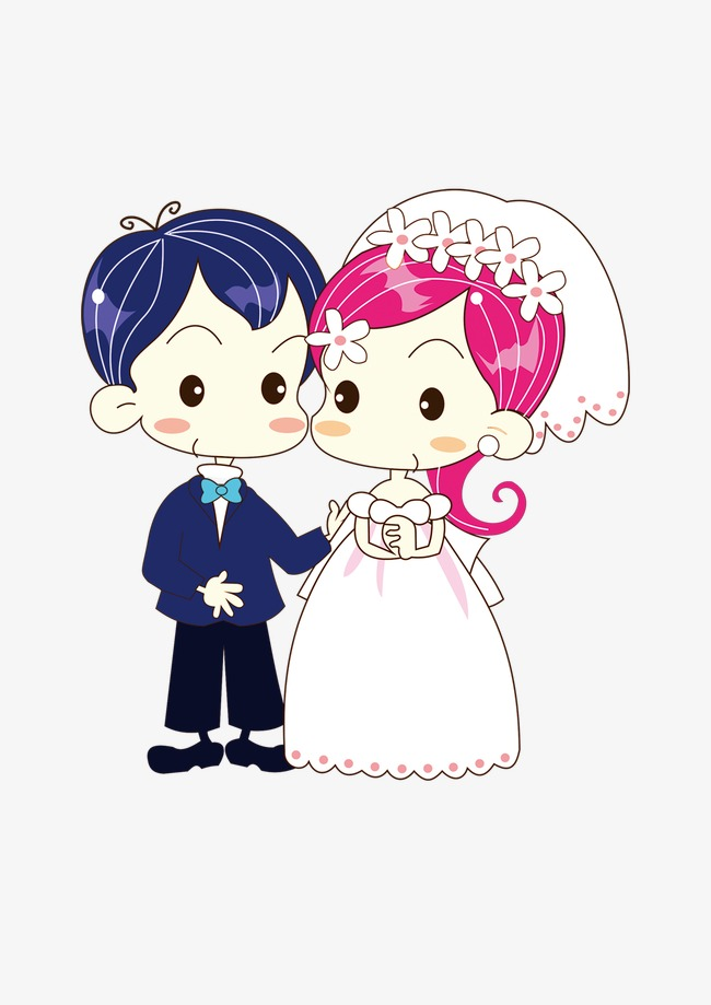 People Getting Married Png - Two People Get Married Cartoon, Cartoon, Marry, Two People PNG ...