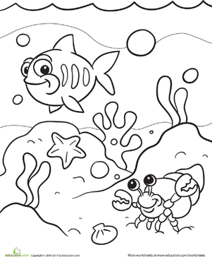 Under The Sea Coloring Page Sea Colour 1553272 Png Images Pngio