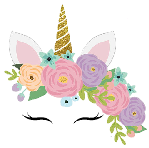 Cute Colorful Png - Unicorn Unicornio Cute Colorful Flowers #73339 - PNG Images - PNGio