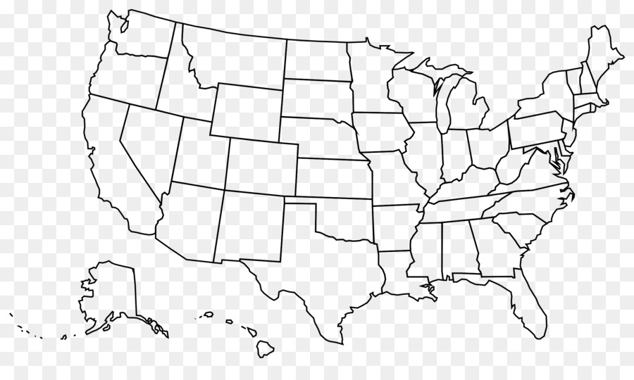 United States Blank Map U.S. State Clip #55823 - PNG Images ...