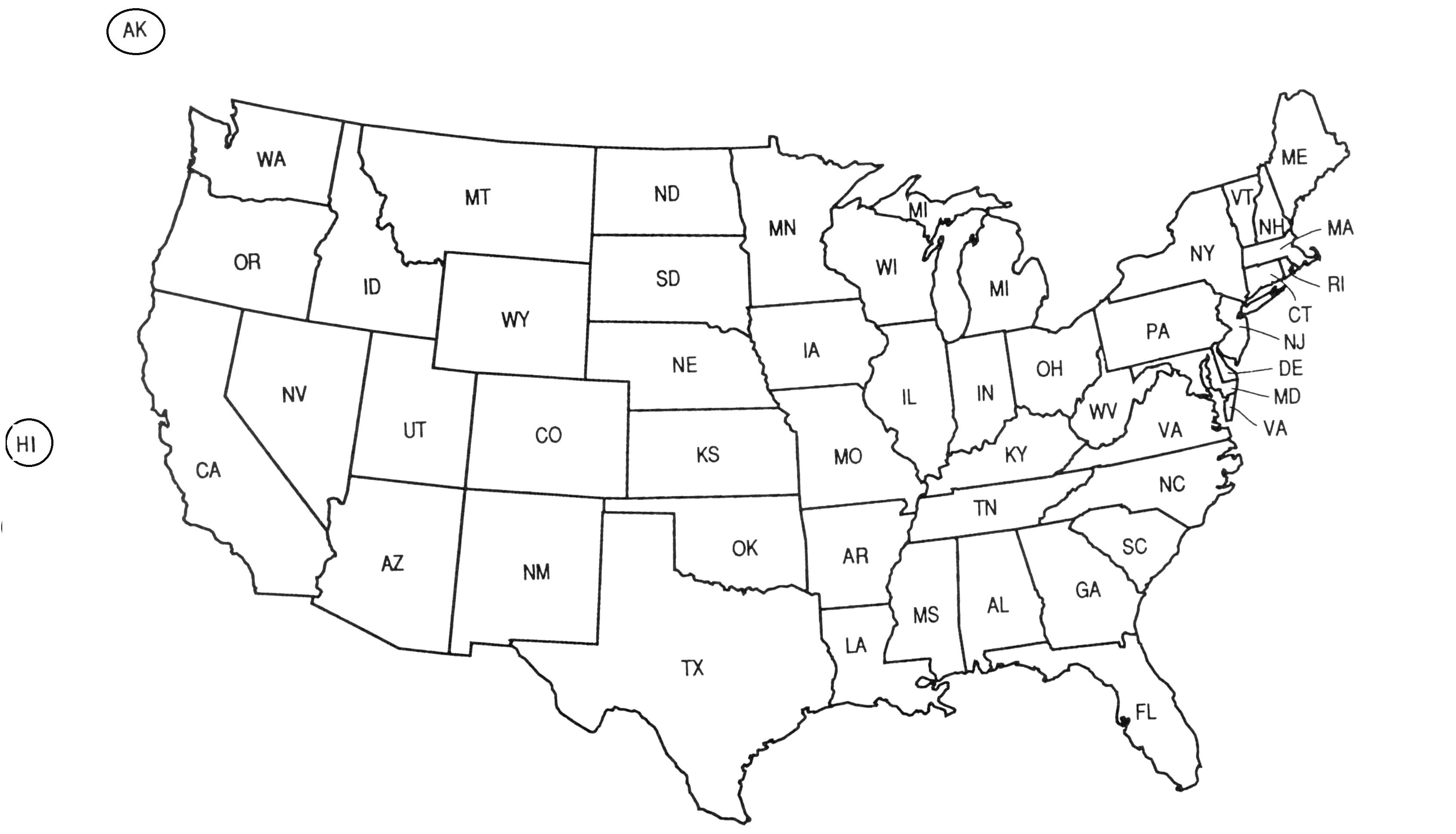 United States Map Black And White United States Map Outline Black And Whit #114530   PNG Images   PNGio