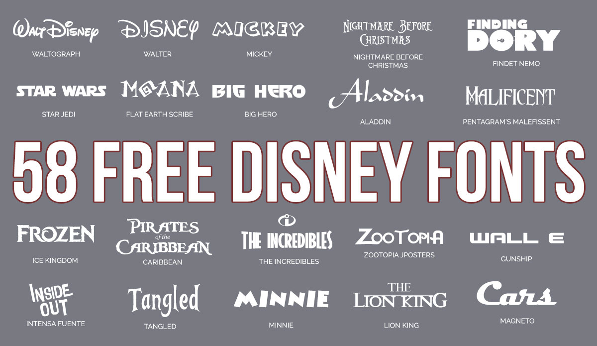 Lightning Mcqueen Font - UPDATED: 59 Free Disney Fonts (September 2019 edition)