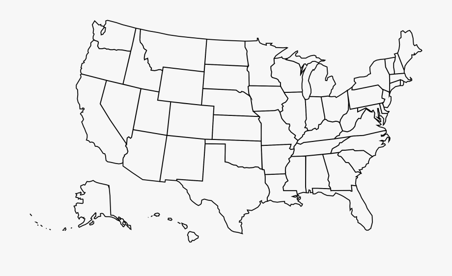 united states map outline png Us Map Outline Png Free Us Map Outline Png Transparent Images