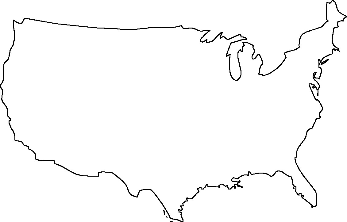 Png Usa Outline & Free Usa Outline.png Transparent Images #4882 - PNGio