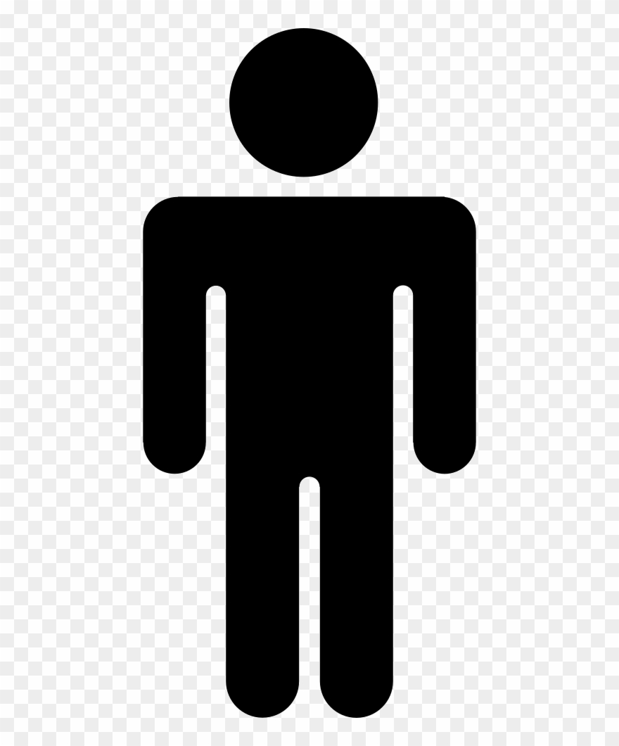 Male Icon Png - Users Male Icon - Stickman Clipart Black And White - Png Download ...