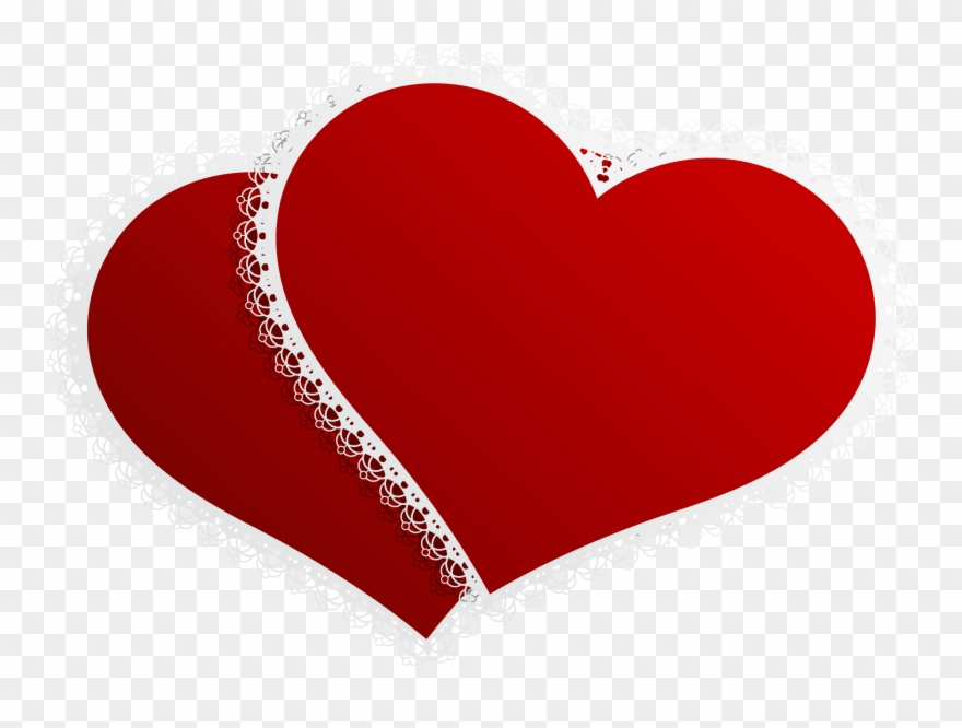 Double Heart Png - Valentine Double Hearts Decor Png Clipart Picture - Wedding Heart ...