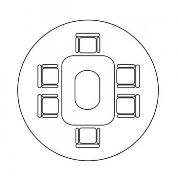 Png Table On Floor - Vector Aerial Conference Table, Top View, Plan View, Overlook PNG ...