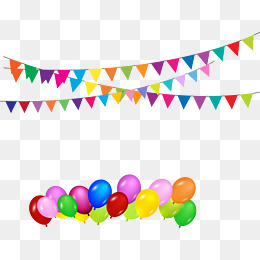 Party Favor Png - Vector Bunting And Balloons Birthday Par #67364 - PNG Images - PNGio