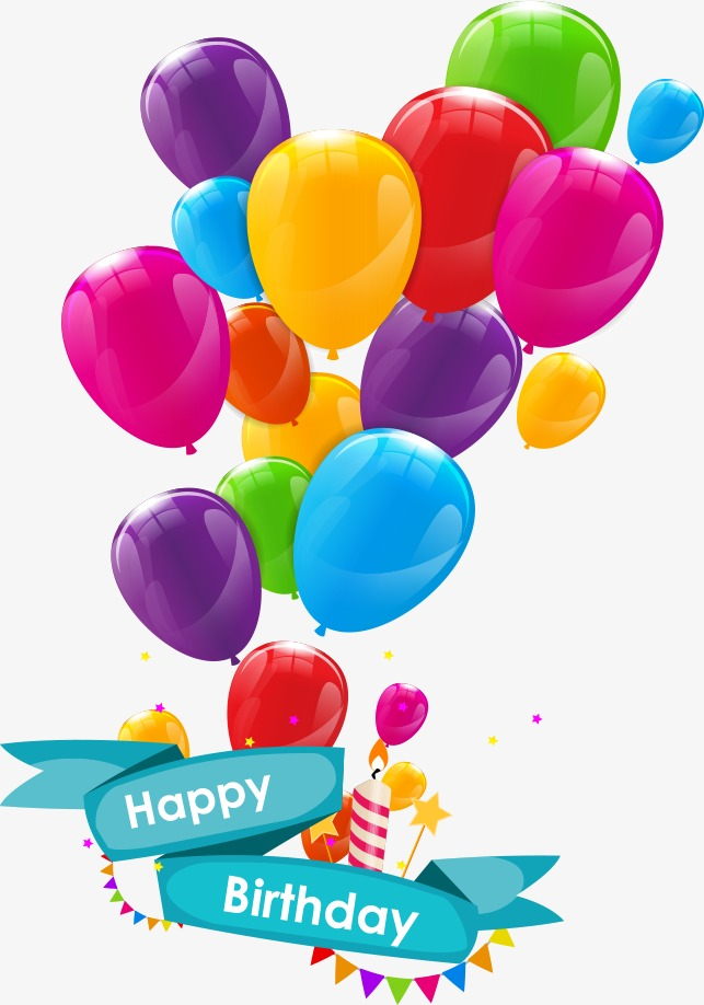 Birthday Balloons PNG Images