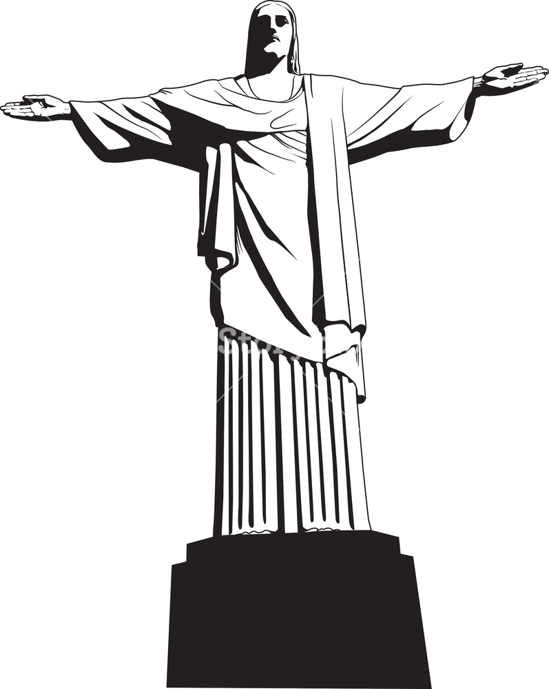 Christian Vector Png - Vector Christ The Redeemer Statue Royalty-Free Stock Image ...