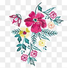 Embroidery Png - vector color embroidery decoration pattern, Boudoir Embroidery, Vector  Embroidery, Pattern Decoration PNG and