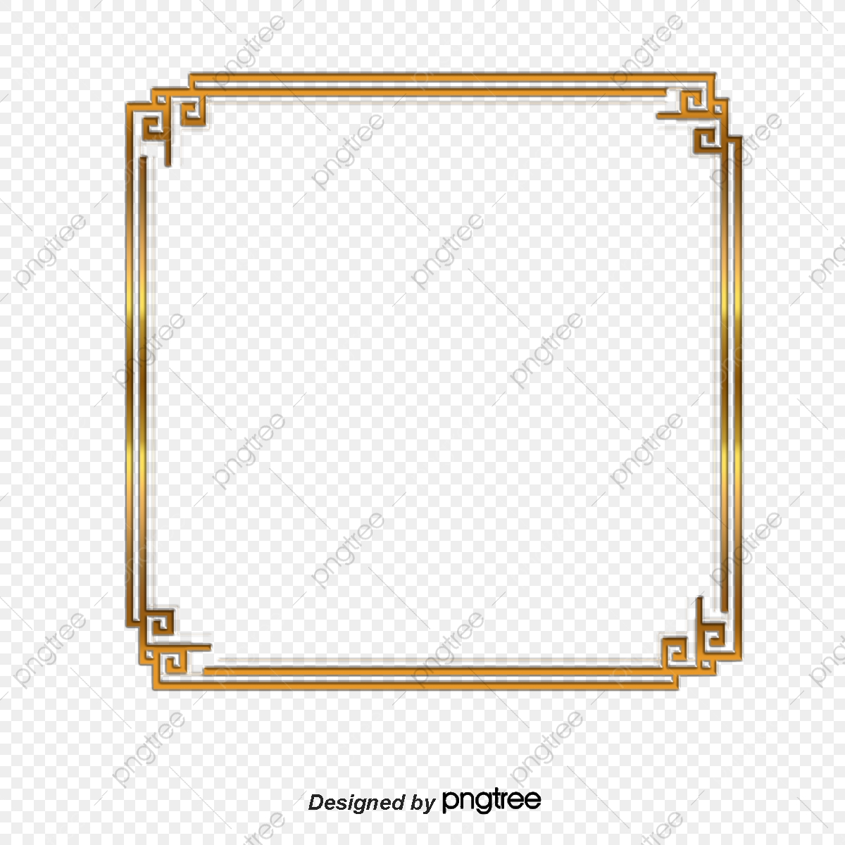 Square Frame Vector Png - Vector Golden Square Frame, Square Vector, Frame Vector, Vector ...