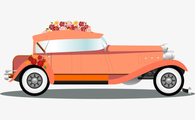 Vector Hand Painted Wedding Car Wedding 70586 Png Images Pngio