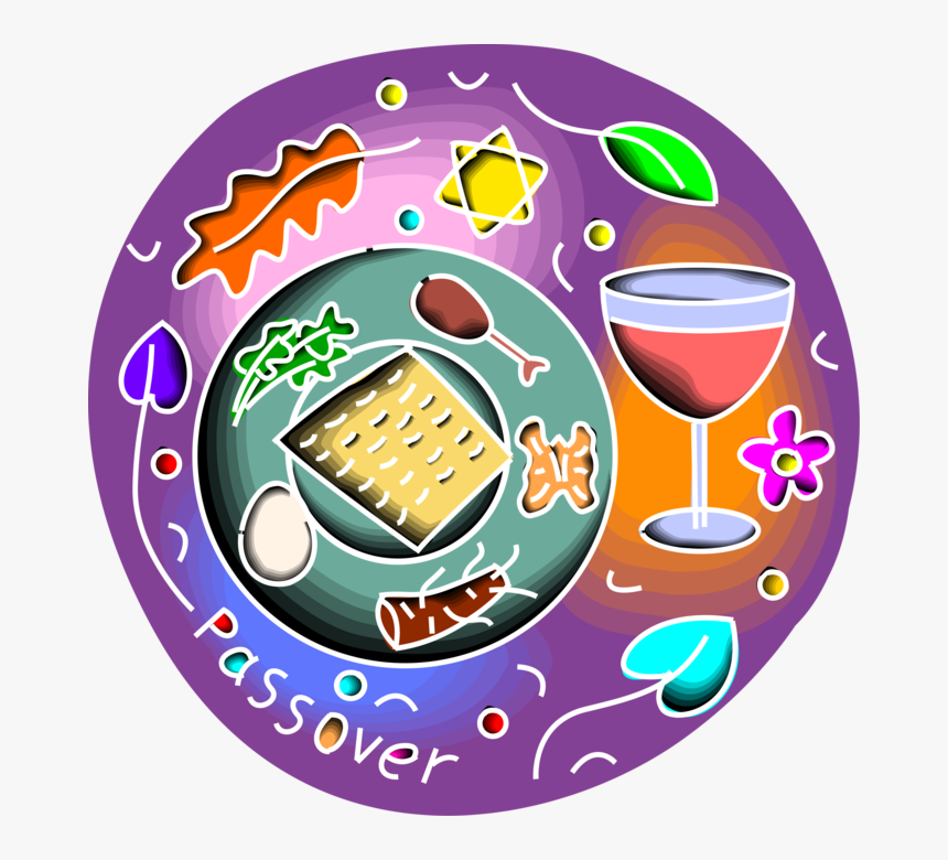Passover Feast Png - Vector Illustration Of Jewish Passover Celebration - Clipart ...