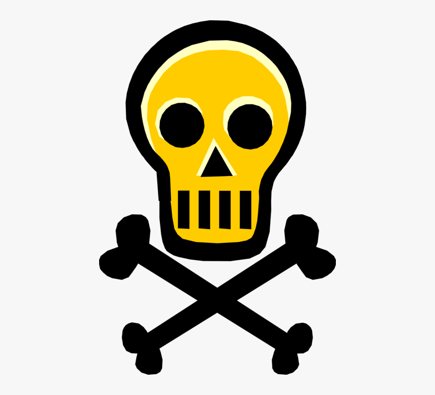 Poison Vector Png - Vector Illustration Of Skull And Crossbones Identify - Toxic Clip ...