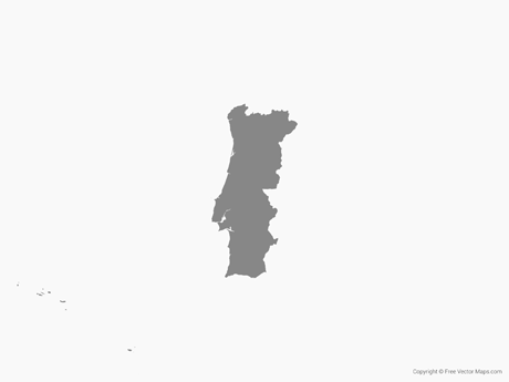 Free Portugal Png - Vector Map of Portugal - Single Color   Free Vector Maps