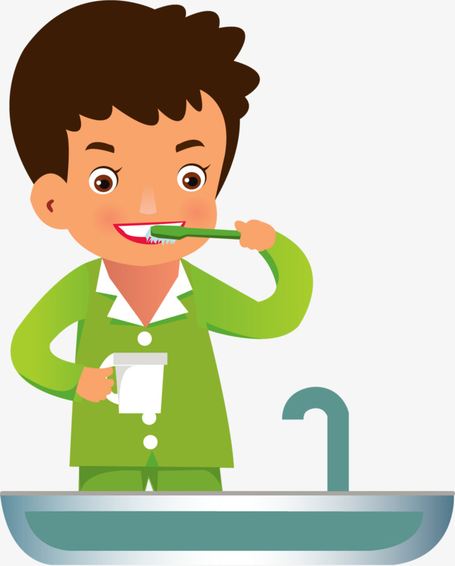 Brushing Png - Vector Painted Brushing, Vector, Hand Painted, Brush Teeth PNG and ...