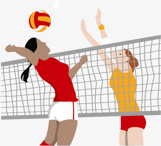Match Clipart Play With Match - Volleyball Match Cartoon ... |Volleyball Game Clipart