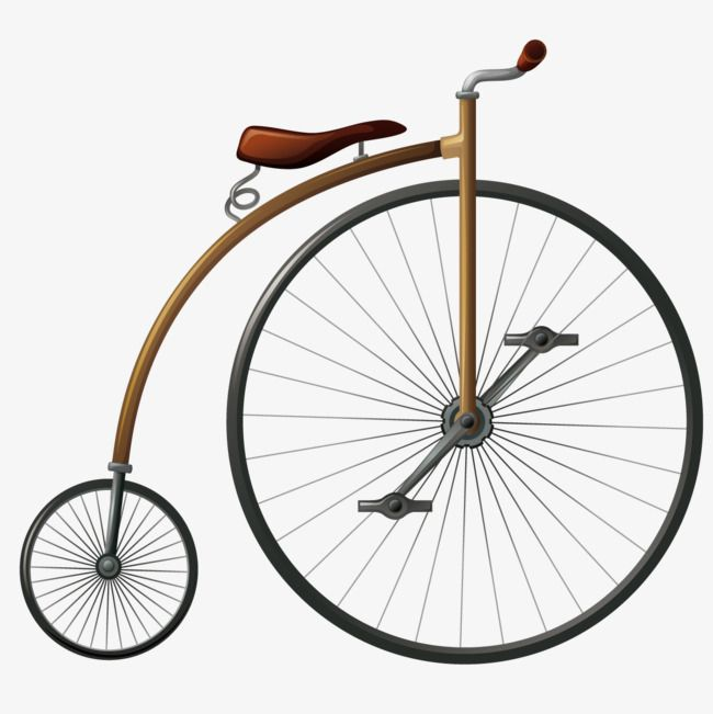 Old Bicycle Png - Vector Vintage Bicycle, Vintage Vector, Bicycle Vector, Big Wheel ...