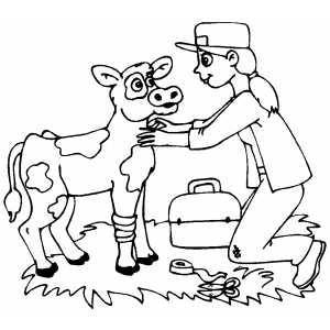 Veterinarian Coloring Pages Png Free