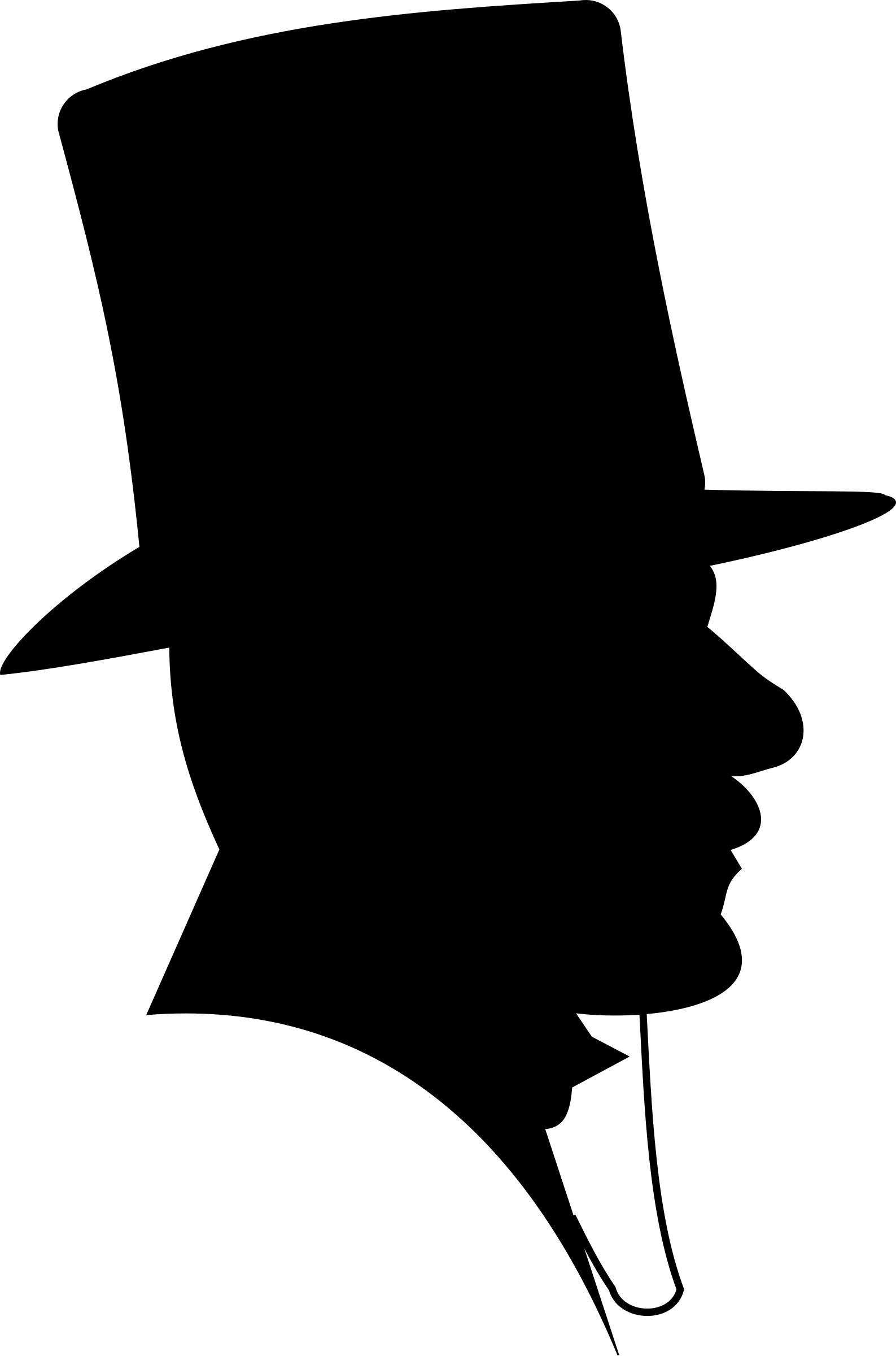 Top Hat Png Man - Victorian Man Silhouette Top Hat transparent PNG - StickPNG
