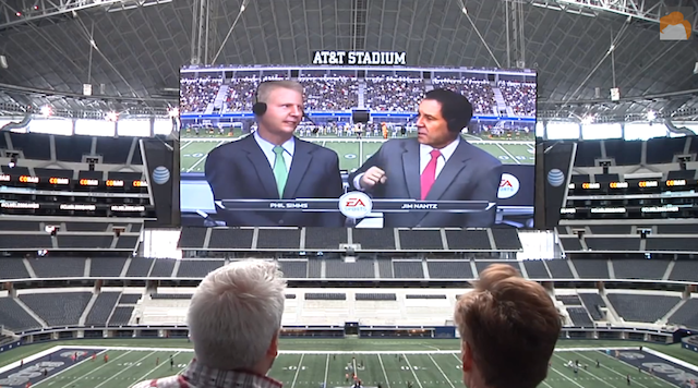 Some One Playing Video Game Png On Screen - VIDEO: Conan O'Brien plays Madden on Cowboys Stadium Jumbotron ...