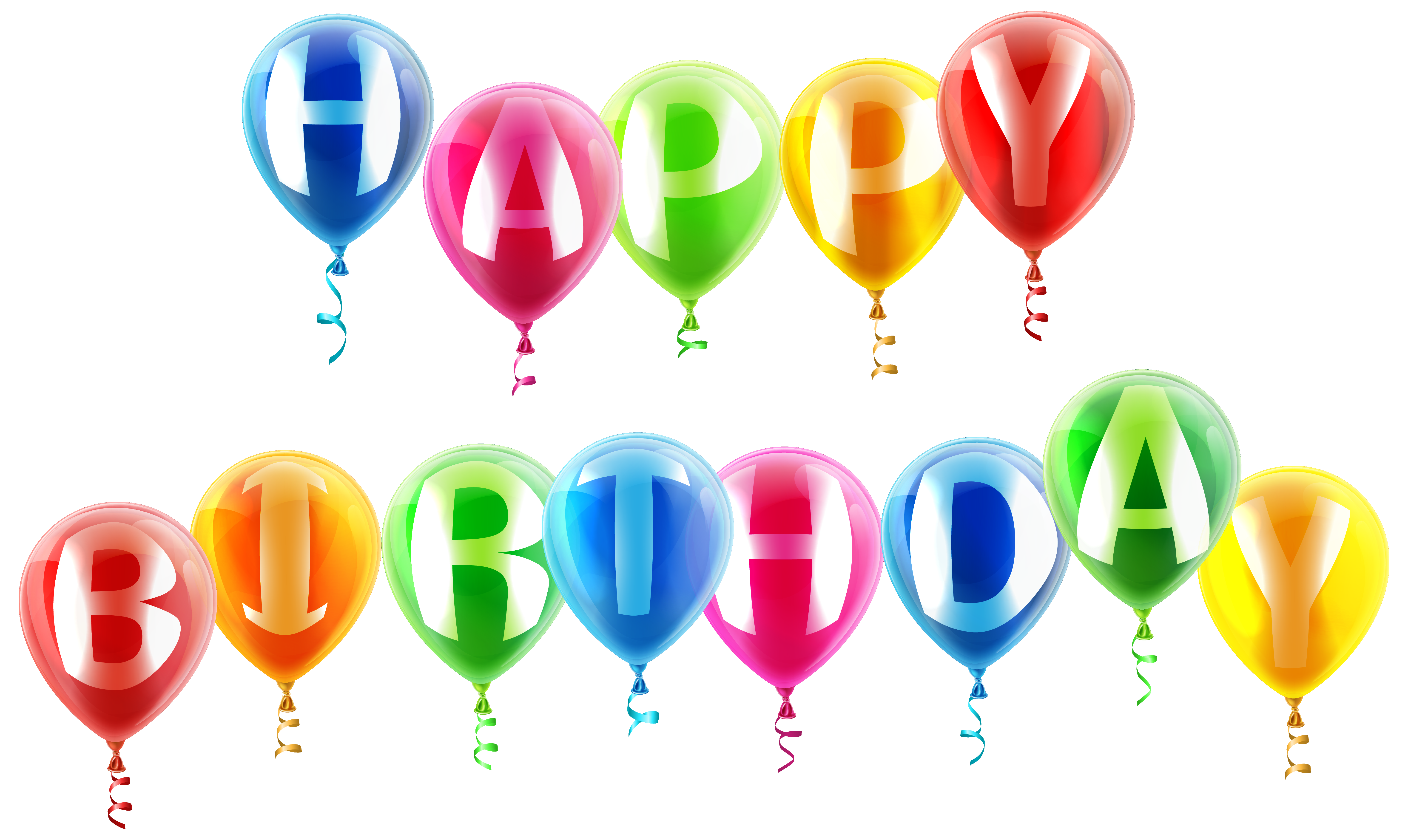 Happy Birthday Balloons Png - View full size ?