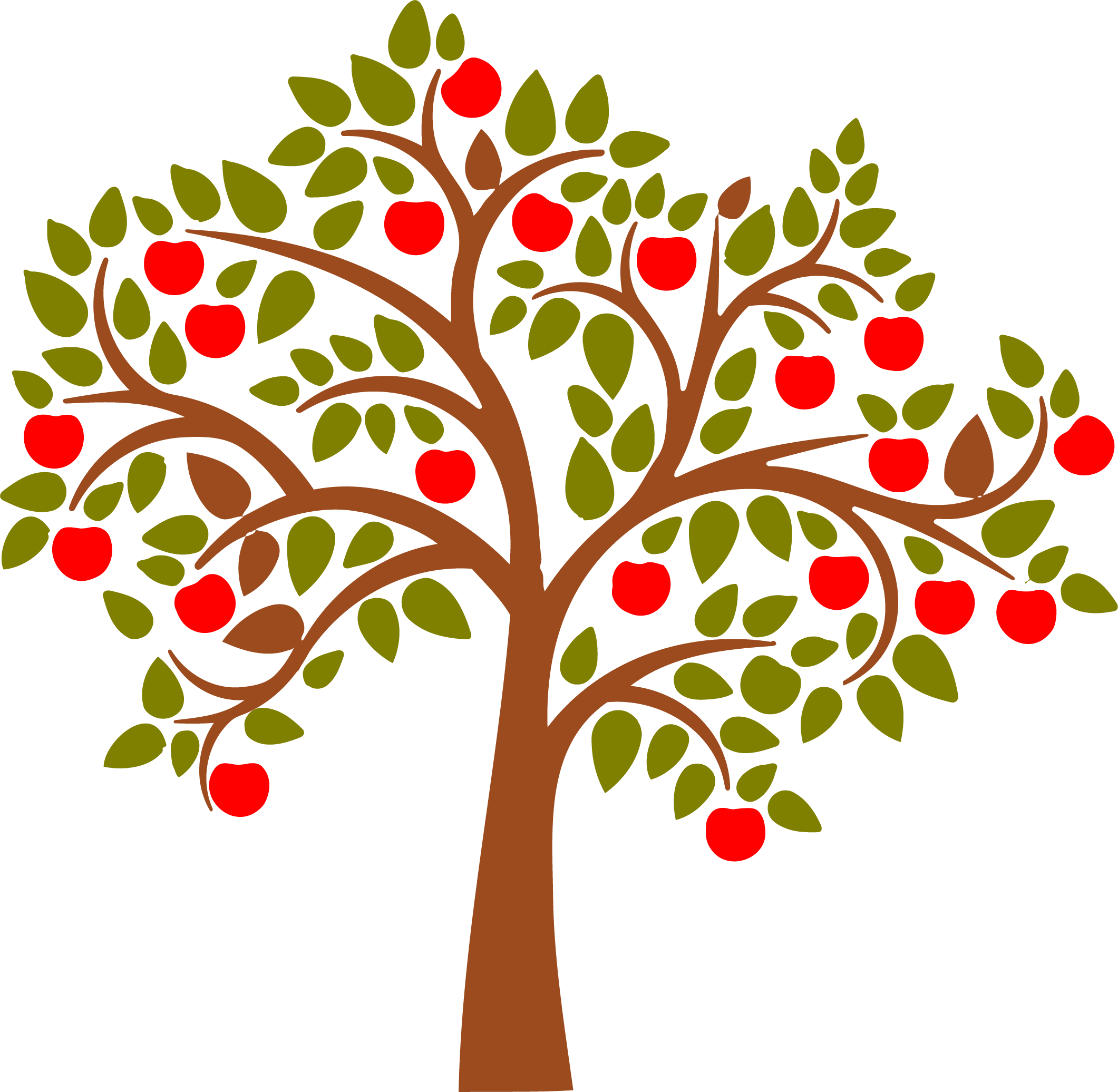 Apple Tree Png Free Use - Vintage apple tree svg free download - RR collections