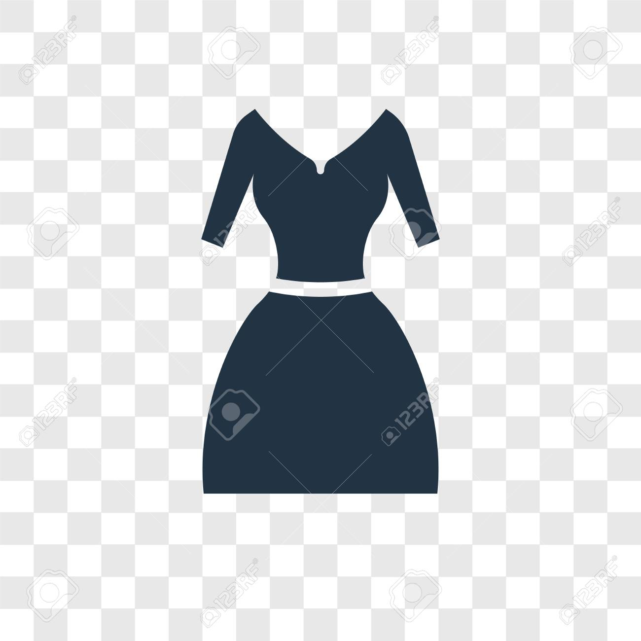 Skirt Png No Backgroun - Vintage Dress Vector Icon Isolated On Transparent Background ...