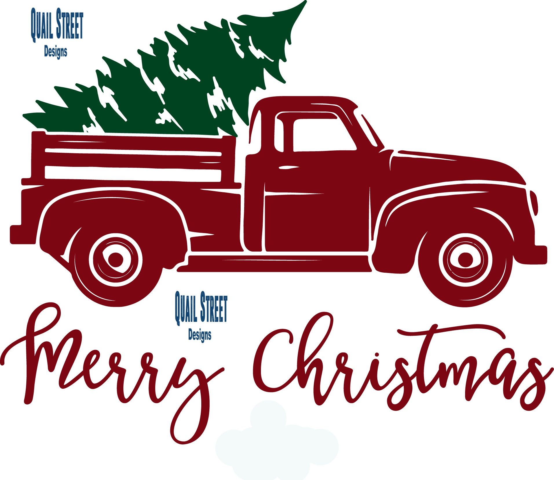 Vintage Red Truck With Christmas Tree 1768373 Png Images Pngio