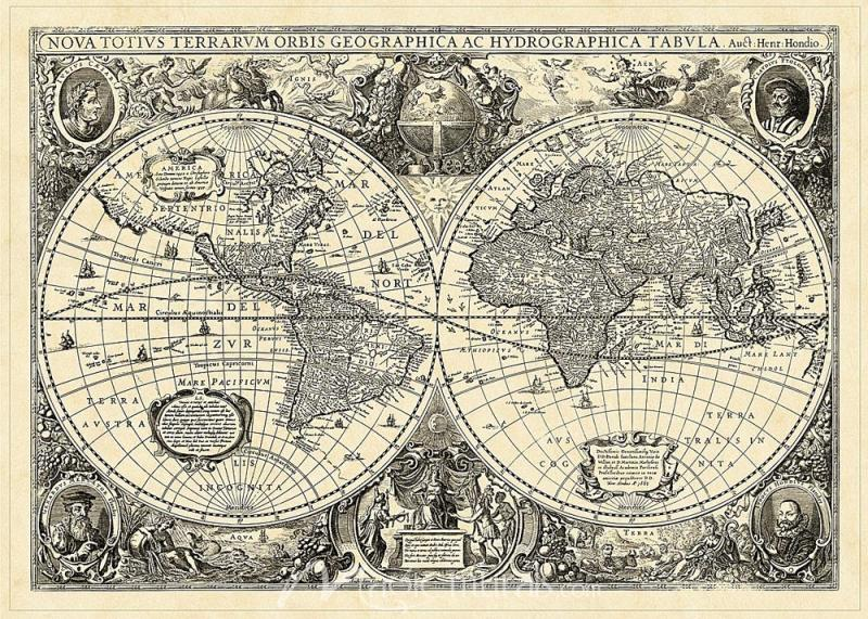 Vintage Map Png - Vintage World Map of the Whole World – MagicMurals.com