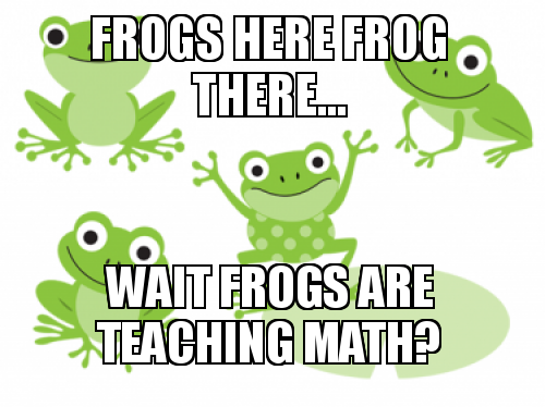 Frog Math Png - Wait frogs are teaching math?
