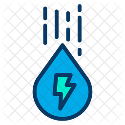 Water Energy Icon Of Colored Outline Sty Png Images Pngio