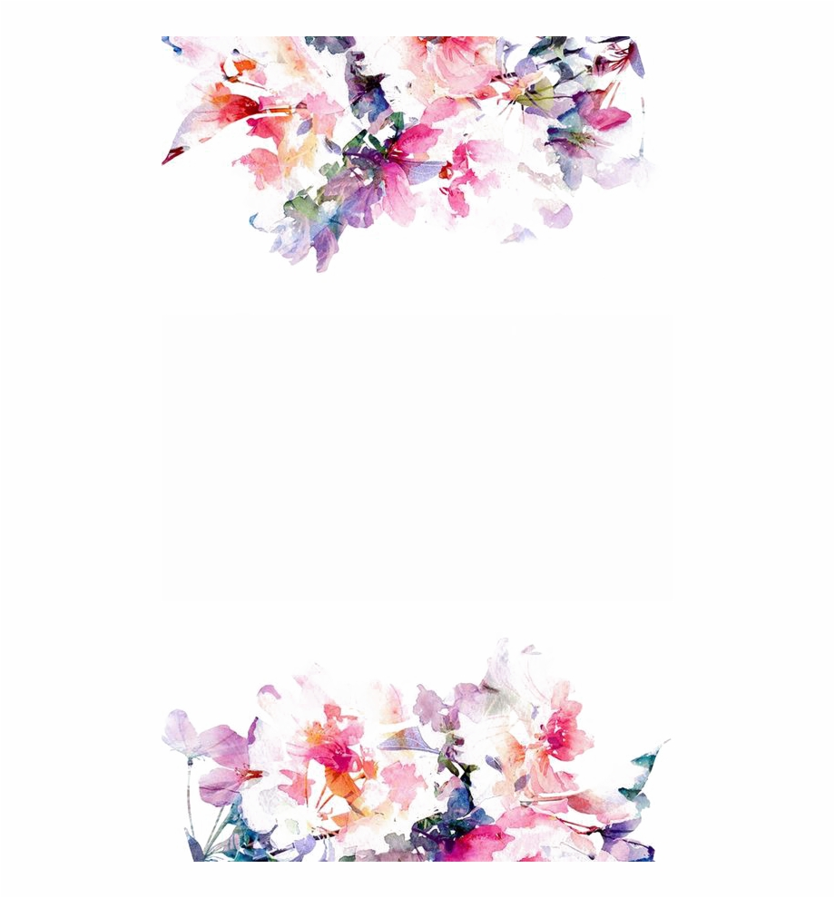 Watercolor Flowers Png Hd Quality Wate 1165753 Png Images Pngio
