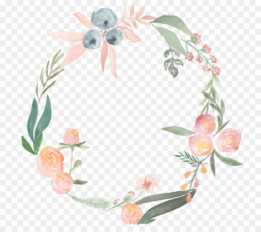 Watercolor Wreath Png - Watercolor painting Flower Wreath Photography Clip art - floral ...
