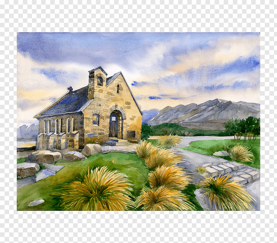 Ludmila Korol Png - Watercolor painting Ludmila Korol Church of the Good Shepherd ...