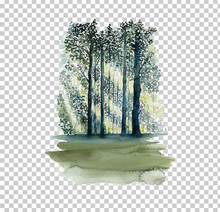 Forest Art Png - Watercolor Painting Paper Tree Forest PNG, Clipart, Art, Black ...