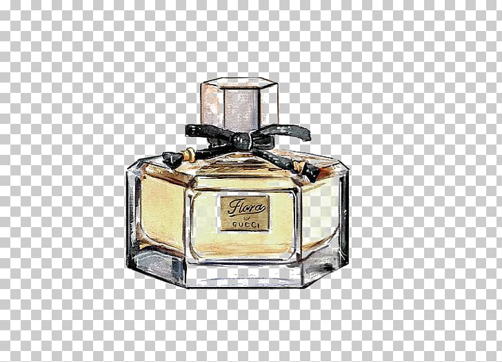 Gucci Illustration Png - Watercolor painting Perfume Drawing Illustration, Drawing perfume ...
