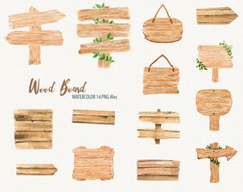Wooden Signs With Quotes Png - Watercolor wooden sign clipart, wood clipart, Rustic wood clipart ...