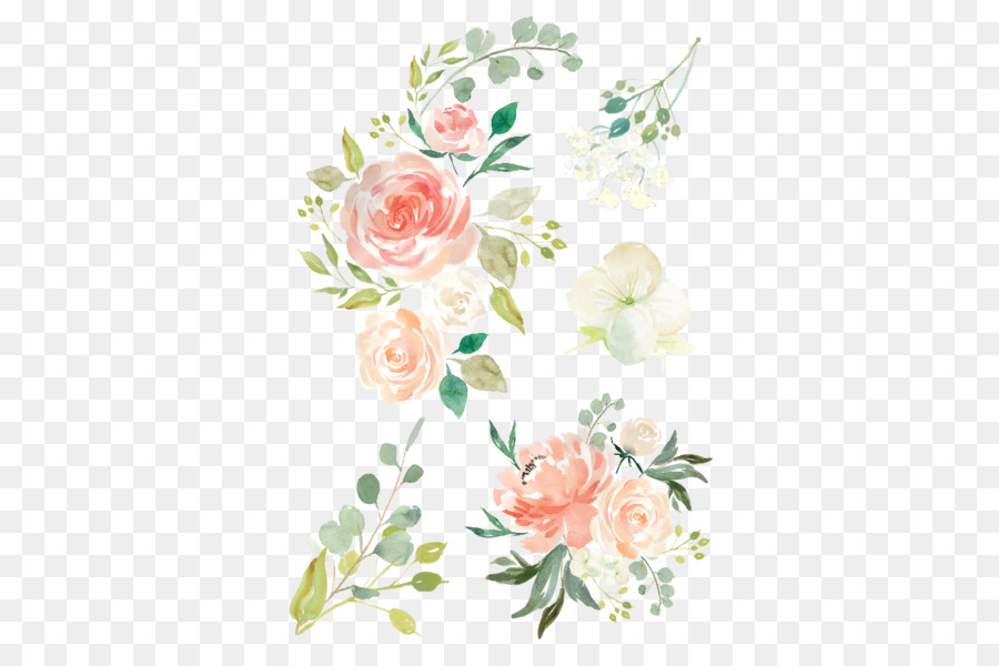 Watercolour Flowers Baby Bedding Waterco #477367 - PNG