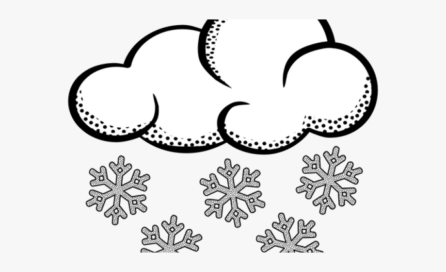 Black And White Snow Png - Weather Clipart Snowy - Clip Art Black And White Snow #216097 ...
