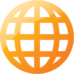 Web 2 Orange Geography Icon Free Web 2 Png Images Pngio