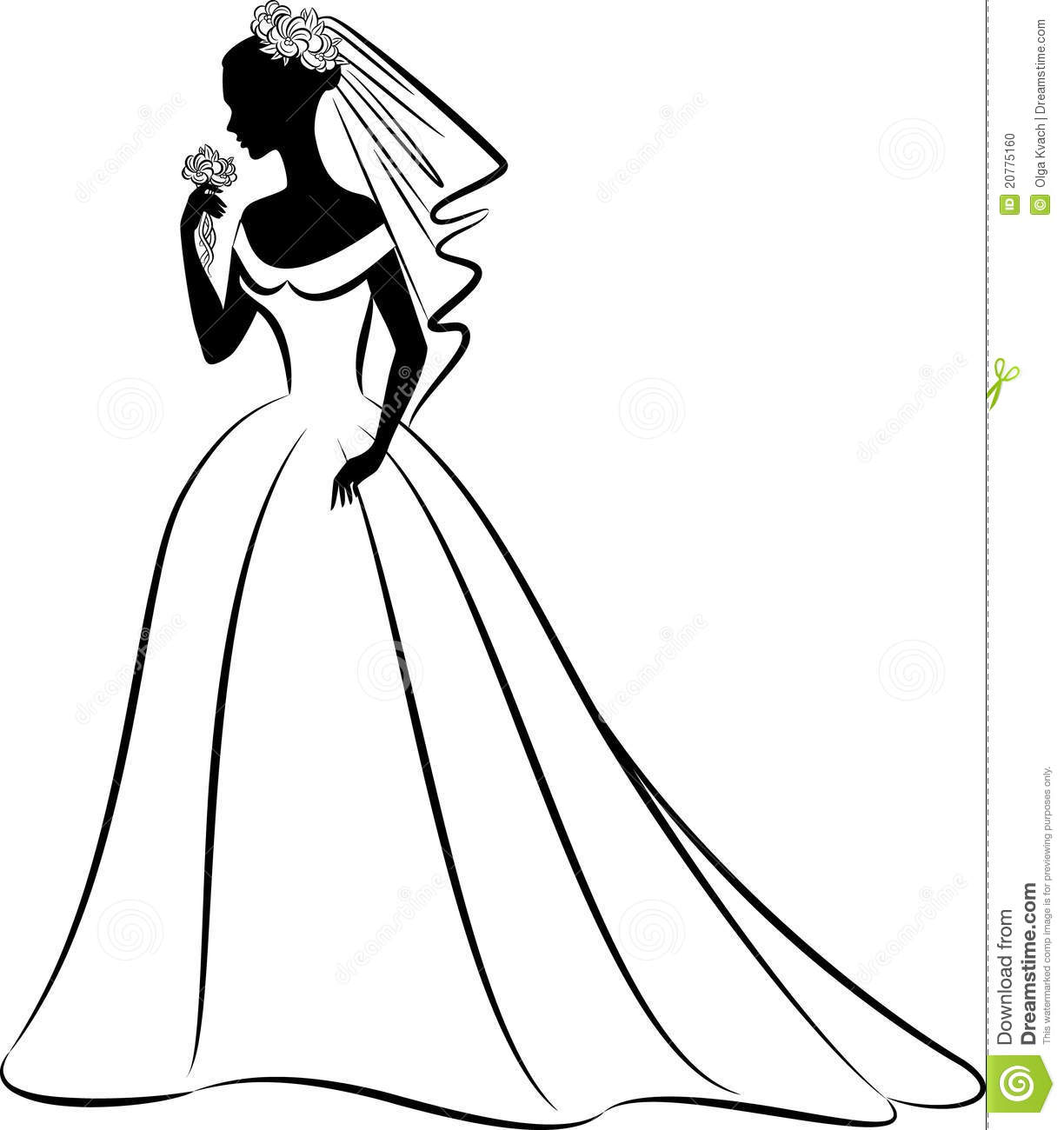 Wedding Clipart Black And White.Black And White Elegant Artistic Wedding Dress Png Free Black And
