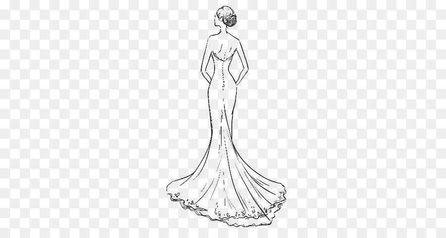 Wedding Dress Png Sketches - Wedding dress Clothing Drawing Skirt - Wedding Dress sketch png ...