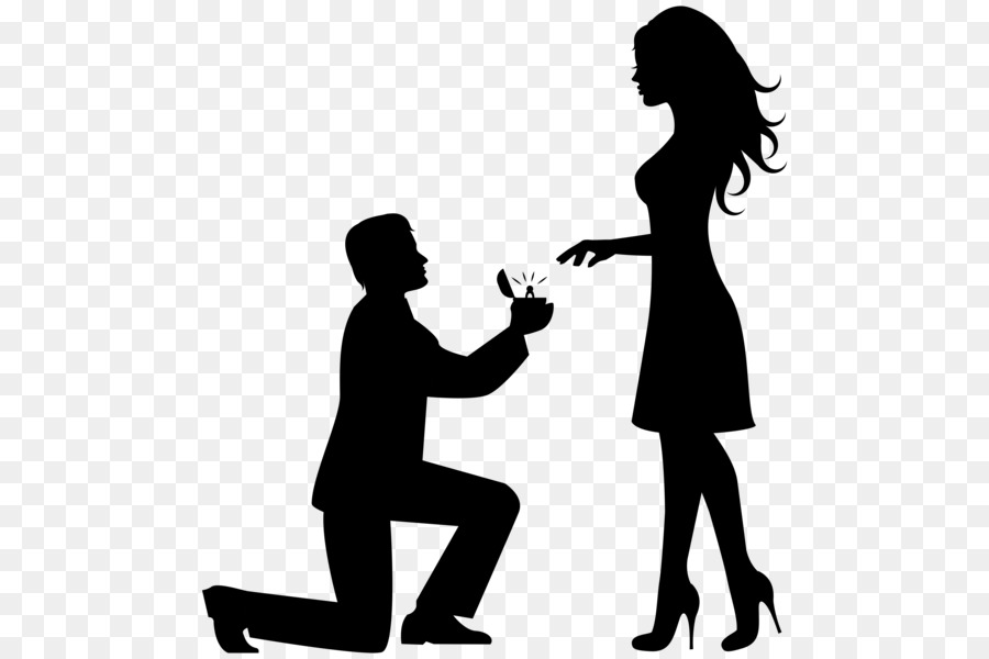 Engagement Proposal Png - Wedding Love Couple png download - 542*600 - Free Transparent ...